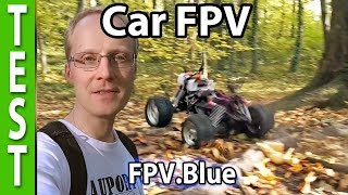 FPV in the woods with digital transmission (FPV Blue, RC Car)