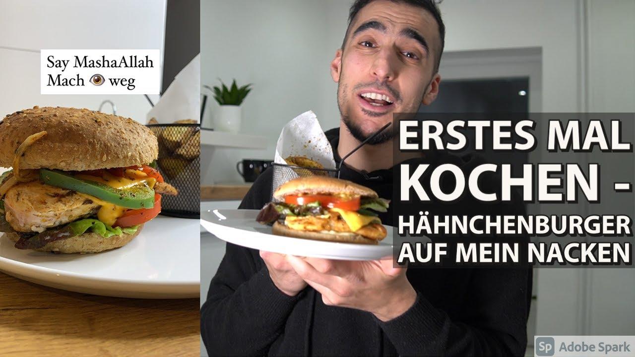 Hähnchenburger & Patatas Bravas sein Vater - erstes Mal Kochen