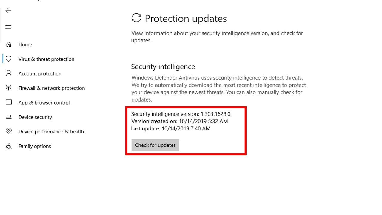 Security Intelligence Update for Windows Defender Antivirus KB2267602 (Version 1.303.1628.0)