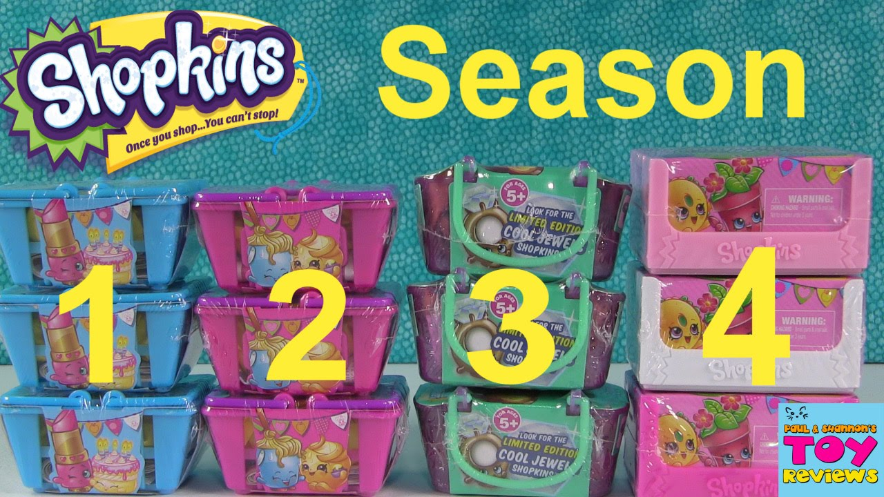 Shopkins Season 1 2 3 4 Blind Basket Opening Toy Review Palooza Pstoyreviews Youtube