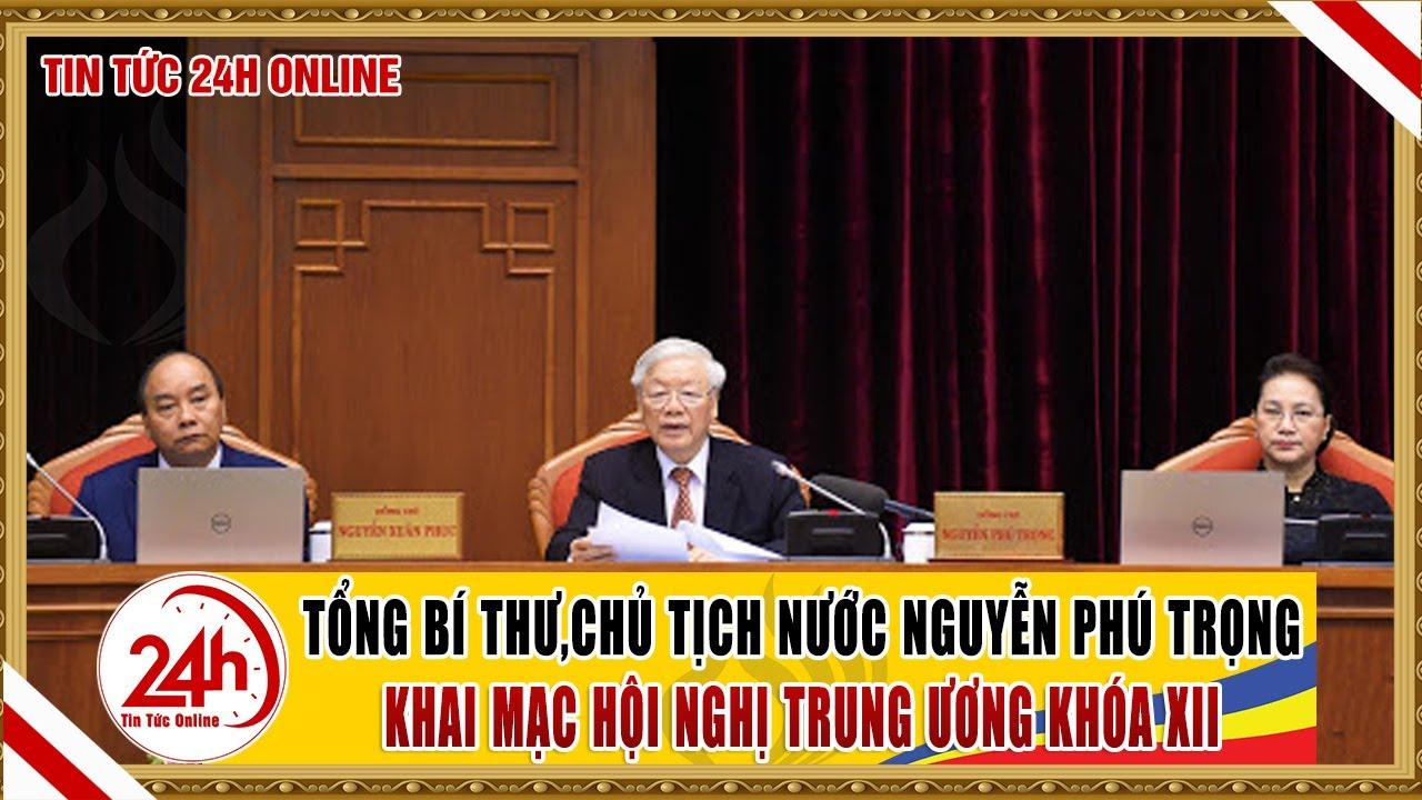 Tổng bí thư, Chủ tịch nước Nguyễn Phú Trọng phát biểu khai mạc hội nghị trung ương khóa XII