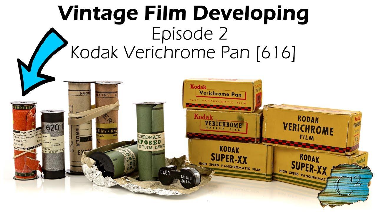 Vintage Film Developing: Kodak Verichrome 616 Pan Film [Ep  2]