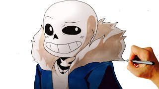 How to draw Sans from Undertale easy step by step drawing