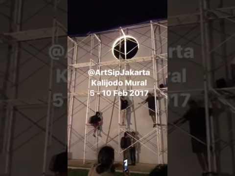 Artship jakarta kalijodo mural youtube for Mural kalijodo