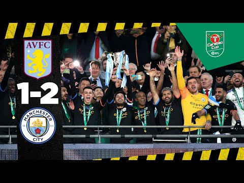 HIGHLIGHTS Aston Villa 1-2 Man City | Carabao Cup Final | Agüero, Rodri, Samatta