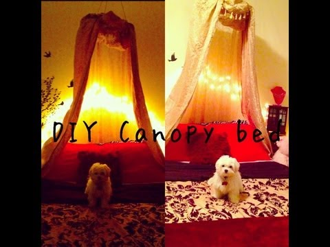 DIY Canopy Bed & DIY Canopy Bed - YouTube
