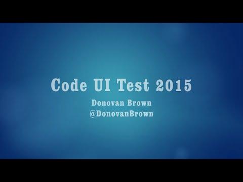 Coded UI Test 2015