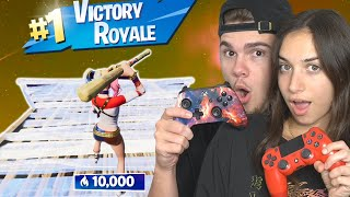 Playing arena with my GIRLFRIEND on Fortnite...