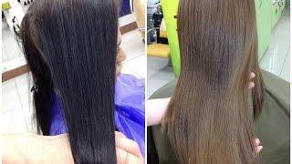 Смывка черной краски с волос || Декапирование // How to remove hair color