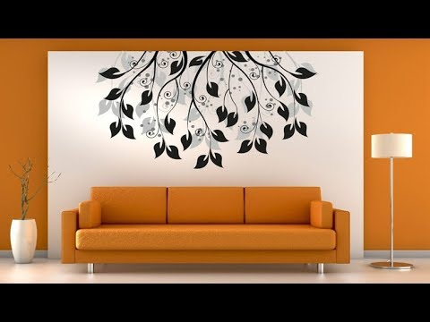 Simple Living Room Wall Painting Ideas Designs For Interior Walls Youtube