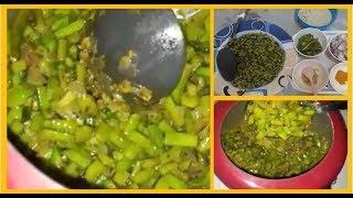 Gawar ki Phali Til   / Cluster Beans with Sesame Seeds