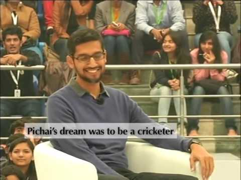 Sundar Pichai Google CEO Funny Interview with Harsha Bhogle