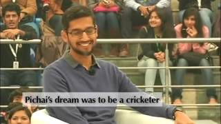 Sundar Pichai Google CEO Funny Interview with Harsha Bhogle