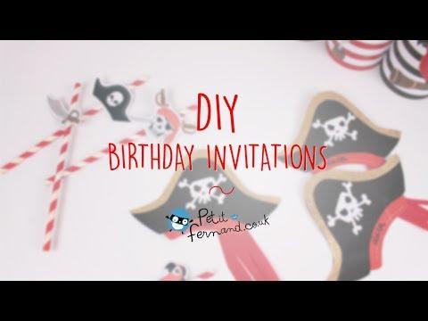 DIY Pirate Birthday Invitation - Petit-Fernand