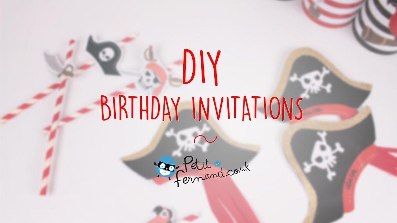 Diy pirate birthday invitation petit fernand youtube diy pirate birthday invitation petit fernand filmwisefo