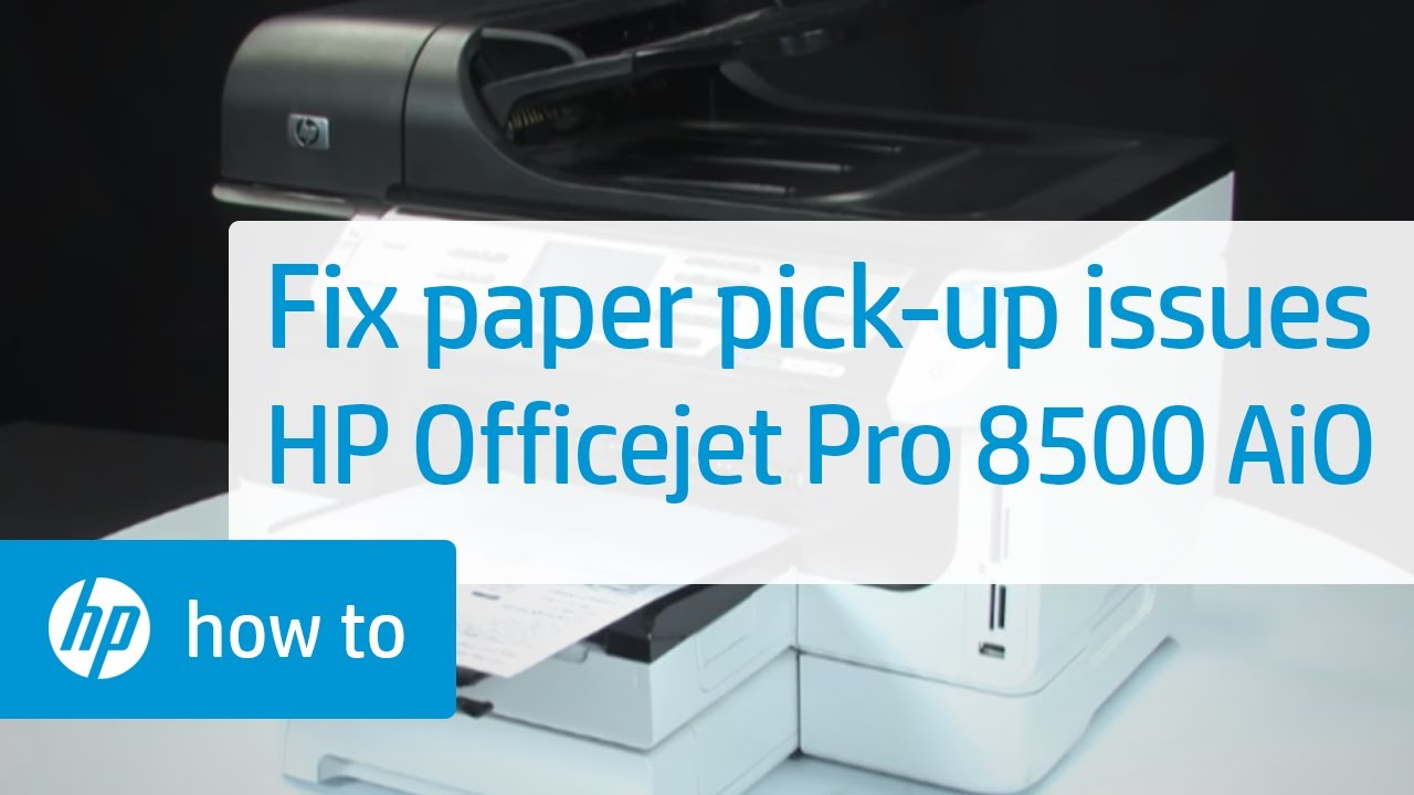 fixing paper pick up issues hp officejet pro 8500 premier all in rh youtube com HP 8500 Manual Display HP 8500 Printer Manual