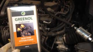 Промывка инжектора Greenol, промываем Ford Focus 2, инструкция.