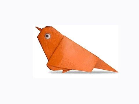 Cách gấp, xếp con chim sẻ bằng giấy origami - Video hướng dẫn xếp hình