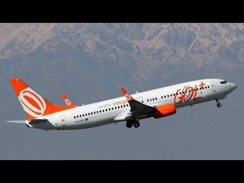 Pushback, taxi e decolagem de Santiago (SCEL) B737-800 Gol Linhas Aéreas