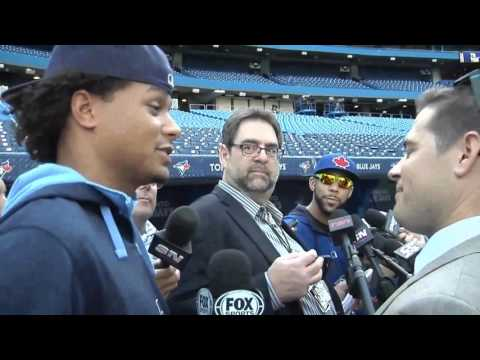 Chris Archer sneaks in to interview David Price
