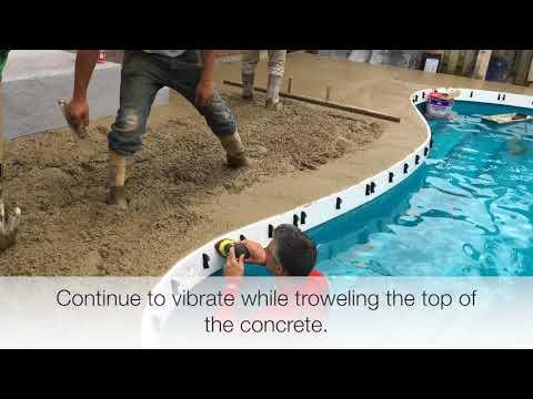 Fiberglass Coping - Concrete Pouring