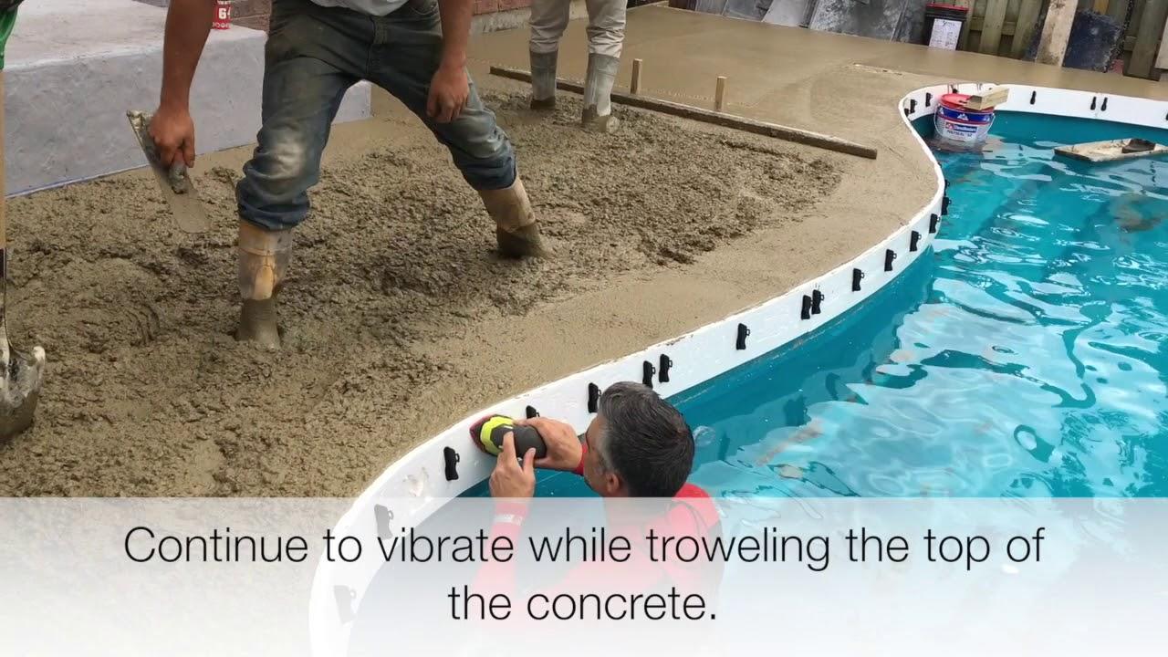 fiberglass coping concrete pouring youtube. Black Bedroom Furniture Sets. Home Design Ideas