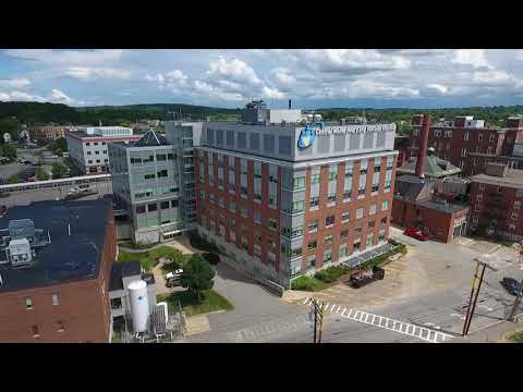 Quick Flyover Of Downtown Lewiston And Central Maine Medical Center