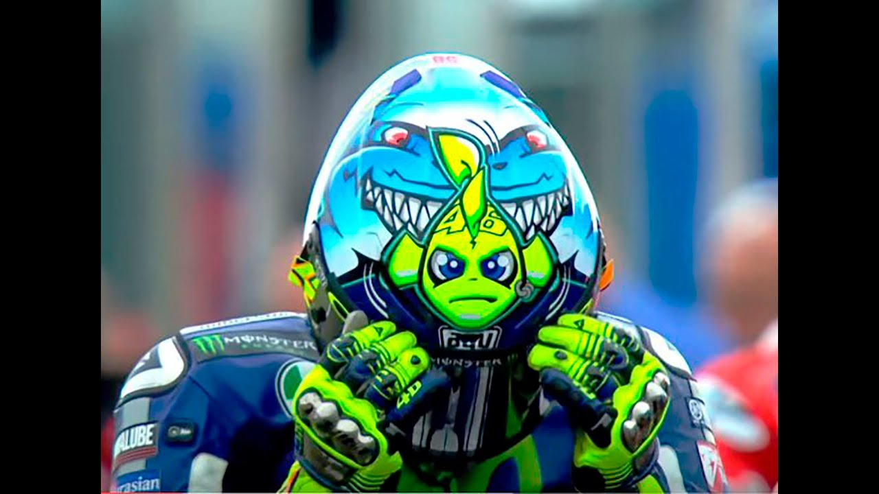 Valentino Rossi A Decade Of Crazy Helmets Youtube