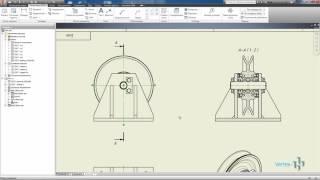 Построение чертежа из 3D модели в Autodesk Inventor