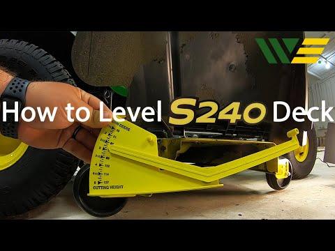 How To Level John Deere S240 Deck