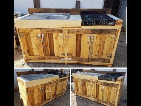 cocina hecha con tarimas palets, kitchen made with pallets ( ENGLISH SUBTITLES)