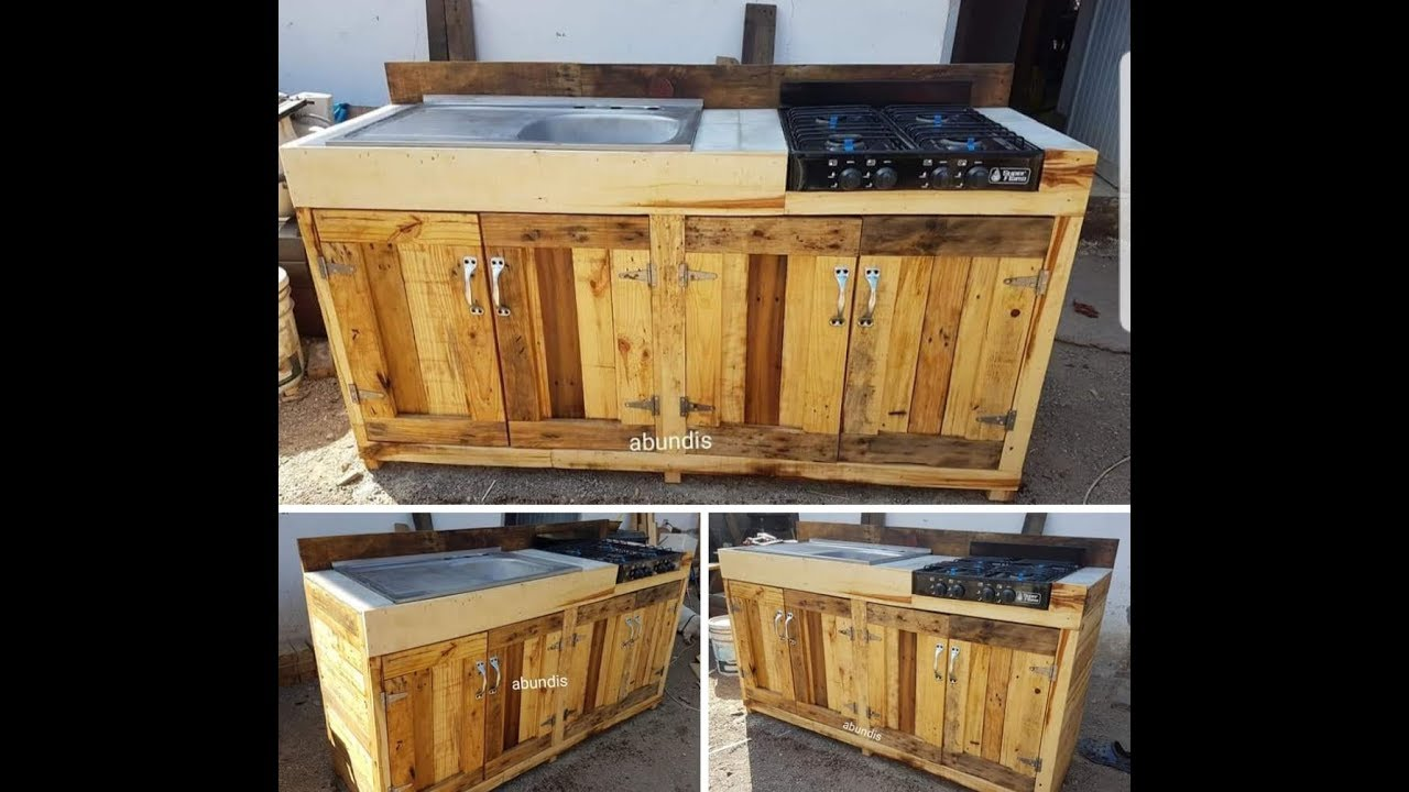 cocina hecha con tarimas palets, kitchen made with pallets ( ENGLISH ...