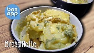 Запеченная курица с картофелем и сыром с голубой плесенью (Bressiflette)
