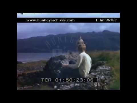 Loch Carron on the west coast of Scotland, 1971.  Archive film 96787