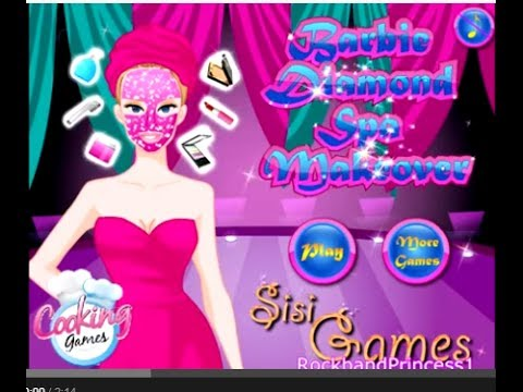 play barbie facial games online free