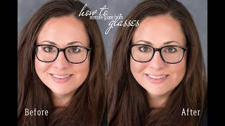 How to take out glasses glare in Photoshop | How to mask in Photoshop | Holly Butler Photography