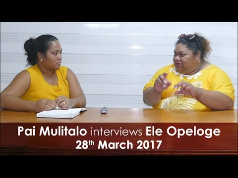 Talamua interviews Samoa's star weightlifter Ele Opeloge