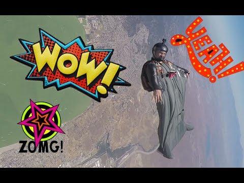 Squirrel ATC wingsuit back fly practice- crazy fun! GoPro 2017 6 17  flight #150