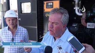 Alcalde Ing. Álvaro Castillo entrego un generador de 500 kilowatios a la EMAPA-I