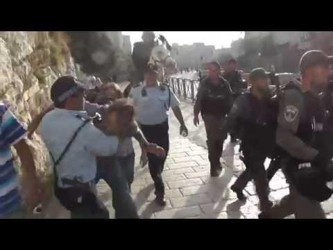 Shocking video - Israeli police brutality, Damascus Gate, 28.5.2014
