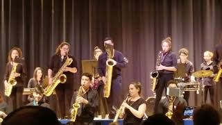 Paloma Sax playing Latin music  2019