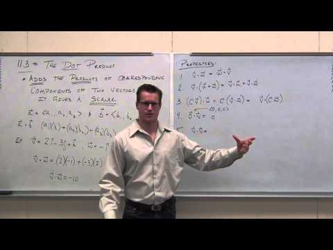 Calculus 3 Lecture 11.3:  Using the Dot Product