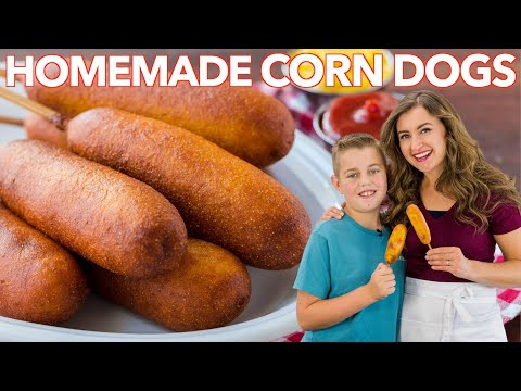 how-to-make-corn-dogs- -honey-corn-dog-recipe