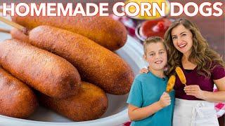 How To Make CORN DOGS | Honey Corn Dog Recipe