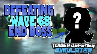 [Roblox] Tower Defense Simulator: DEFEATING WAVE 68 END BOSS (SPEED GAMEPLAY) (INSANE UPDATE)