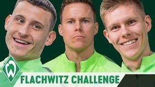 FLACHWITZ CHALLENGE PART 2 mit Aron Johannsson, Niklas Moisander & Maxi Eggestein   SV Werder Bremen