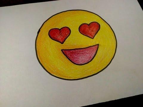 Como Desenhar Um Emoticon Apaixonado Facil Passo A Passo Youtube