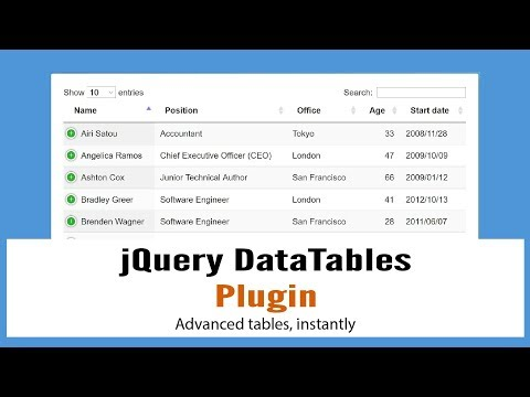 JQueryDataTables: JQuery Plugin For HTML Tables Advance Controls