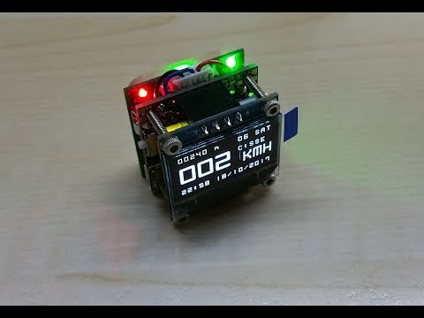 New GPS and Clock Cube made with my OLEDiMAX PCB