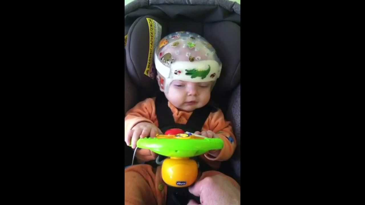 Jack with his Chicco steering wheel! - YouTube
